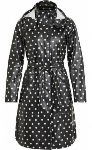 OBJBIEL RAINCOAT BLACK DOT logo