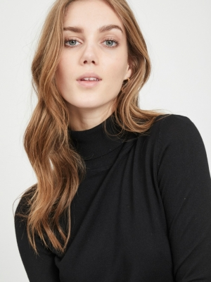 VIBOLONIA KNIT ROLLNECK BLACK
