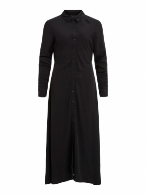 OBJBAYA LONG SHIRT DRESS logo