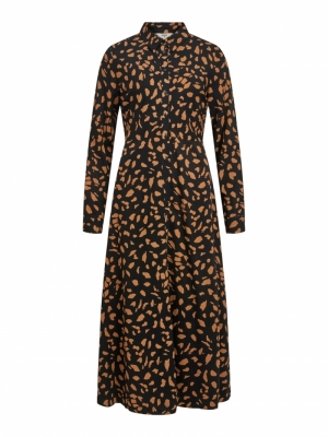OBJBAYA L-S LONG SHIRT DRESS logo