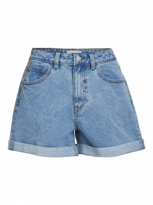 OBJVINNIE MW DENIM SHORTS logo