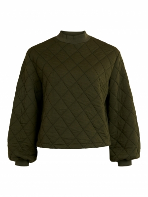 OBJMONI L-S QUILTED SWEAT PULL logo