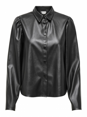 JDYVERA FAUX LEATHER SHIRT logo