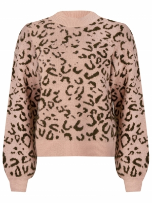 KNITTED SWEATER MET LEOPARD  logo