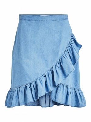 VIFANZI HW DENIM WRAP SKIRT logo