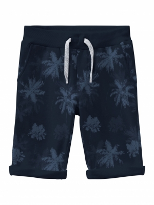 NKMVERMO AOP LONG SWE SHORTS logo