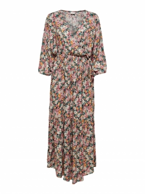 JDYUNA 3-4 WRAP MAXI DRESS WVN logo